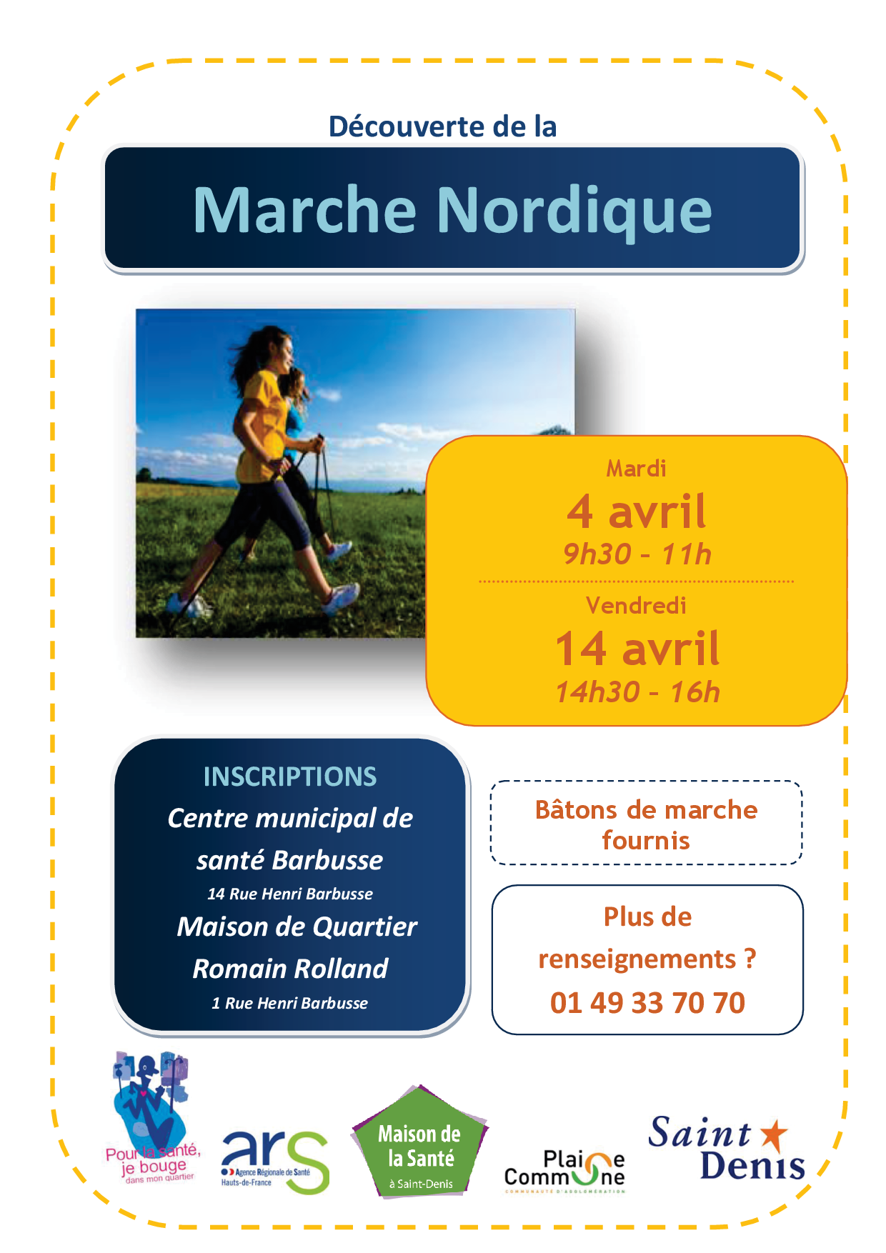 Affiche initiation marche Nordique avril 2017